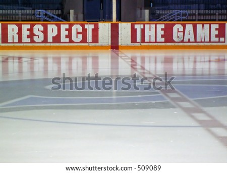 ice hockey rink - stock photo