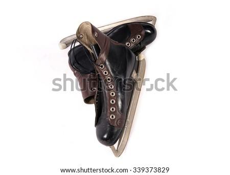 ice hockey skates - stock photo