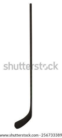 Ice hockey stick on white background - stock photo