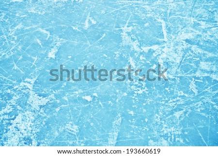 Ice hockey surface fr skating - stock photo