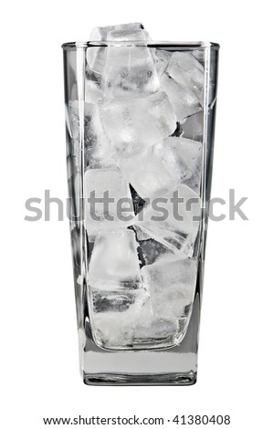 Ice in a glass - stock photo