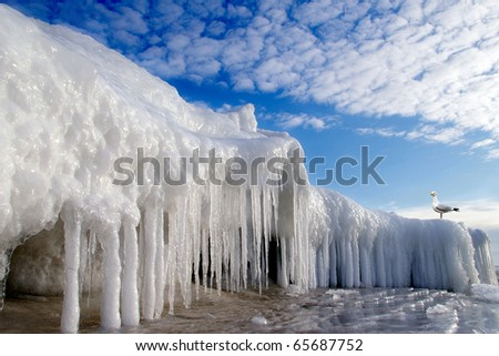 Ice in the Baltic Sea - stock photo