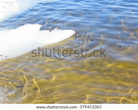 Ice in the water