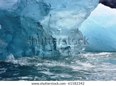 Ice in the water: closeup - stock photo