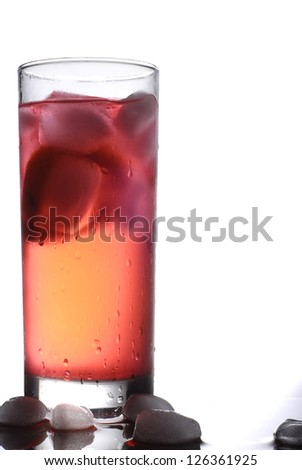 Ice juice - stock photo