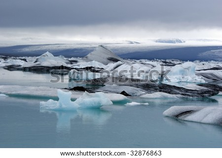 Ice Lagoon in Hornafjordur in Iceland