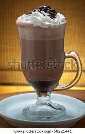 ice latte frappuccino / cappuccino - stock photo