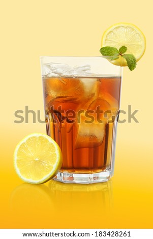 Ice Lemon Tea very fresh