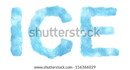 Ice Letter isolated on white background