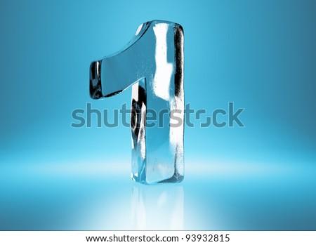 ice number 1 - stock photo