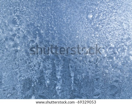 ice on glass texture - stock photo