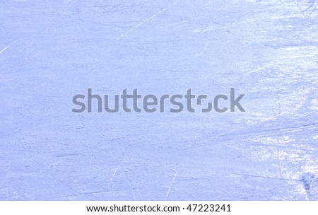 ice on skating rink - stock photo