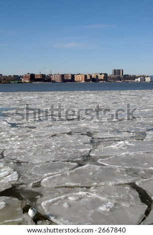 ice on the hudson river