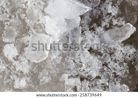 ice on the nature as background - stock photo