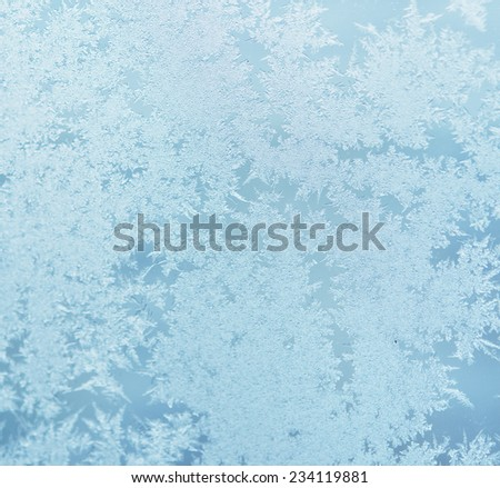ice pattern on a window - stock photo