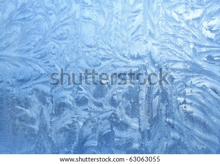 ice patterns on glass - stock photo
