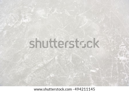 Ice Patterns on Skating Rink