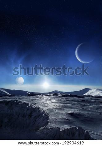 Ice planet - stock photo
