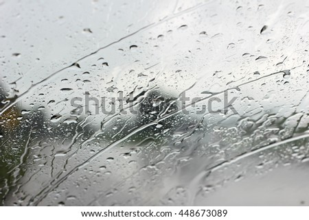 Ice Rain Windshield
