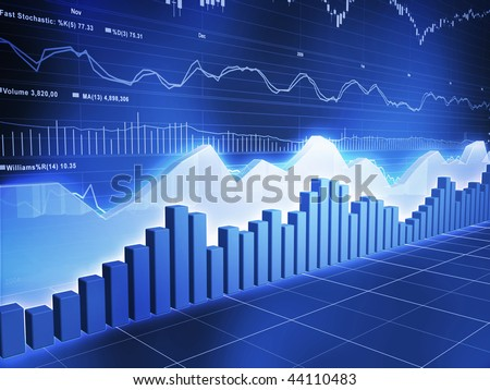 Ice Series Stock with Stock Market Ticker