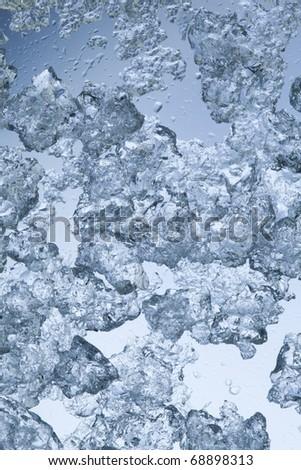 Ice shards background - stock photo