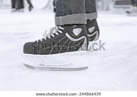 Ice skater - stock photo