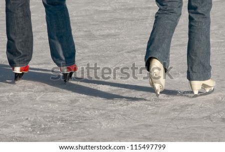 ice skaters - stock photo