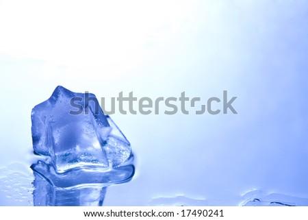 ice star on mirror - stock photo