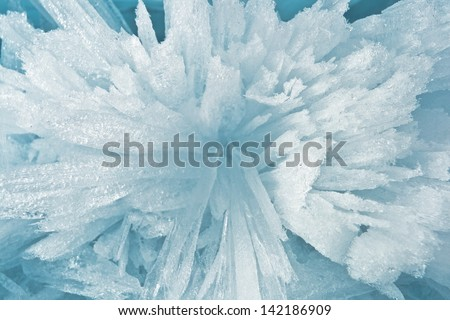Ice sticks from water of Baikal for background - stock photo