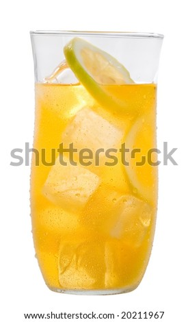 Ice tea lemonade - stock photo