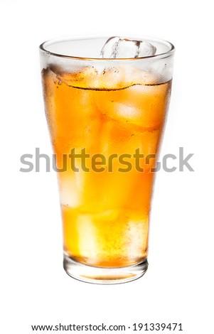 ice tea on isolated background - stock photo
