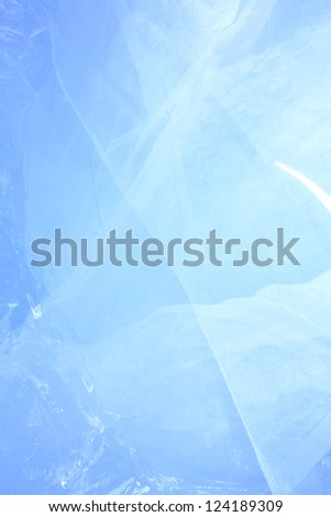 ice texture of wall using as background - stock photo