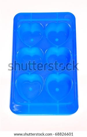 Ice tray heart shape - stock photo