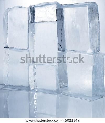 ice wall - stock photo