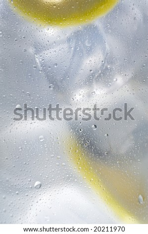 ice water and lemons - stock photo