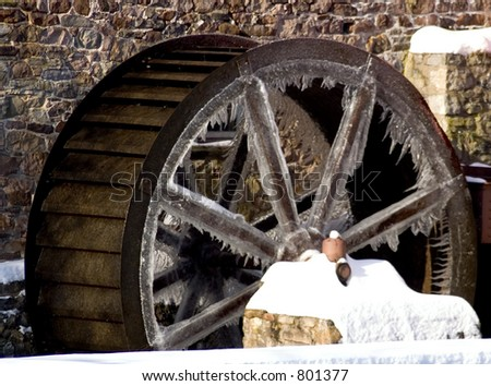 Ice Wheel - stock photo