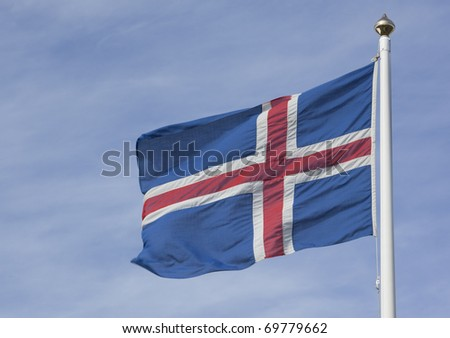 Icealndic Flag - stock photo