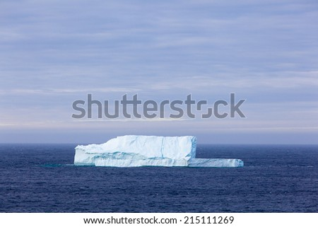 Iceberg along the coast of Newfoundland.