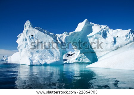 Iceberg Antarctica - stock photo