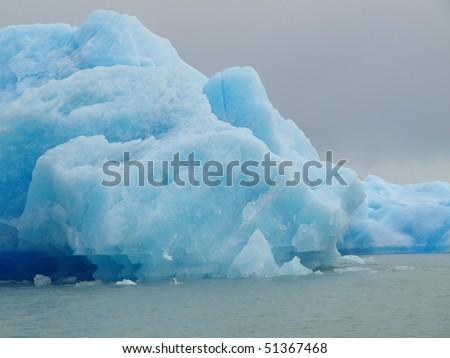 Iceberg floating in lake - Upsala El Calafate Argentina - stock photo