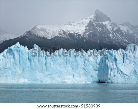 Iceberg floating on lake - Perito Moreno Glacier El Calafate Argentina