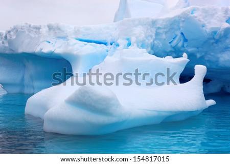 Iceberg in Antarctica, west coast of antarctic peninsula  - stock photo