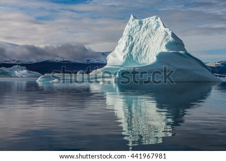 Iceberg in Greenland. You can only see the top of the iceberg, whilst the remaining 7/8 is left to your imagination.