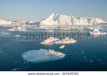 Iceberg in Ilulissat, Greenland - stock photo
