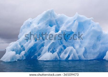 Iceberg in Napassorsuaq Fjord, Greenland - stock photo