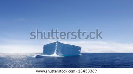 Iceberg in the Atlantic Ocean - stock photo
