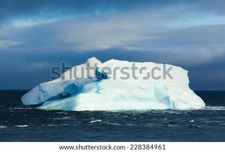 Iceberg in the Laptev Sea - stock photo