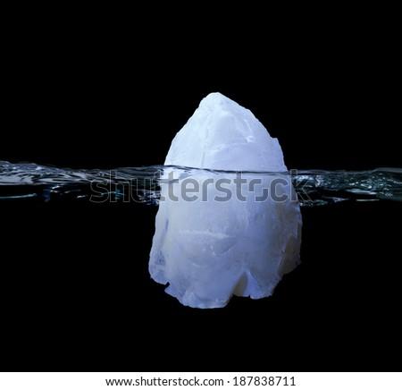 Iceberg in Water - stock photo