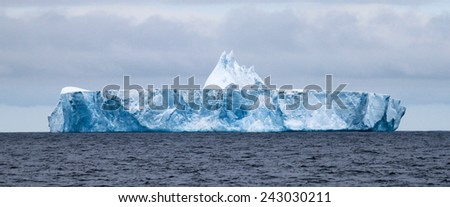 iceberg in weddell sea - stock photo