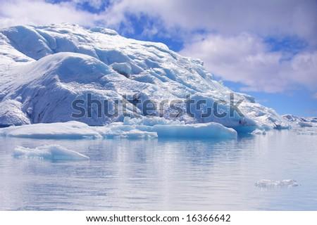 Iceberg, Jökulsarlon Glacial Lagoon, Iceland. - stock photo